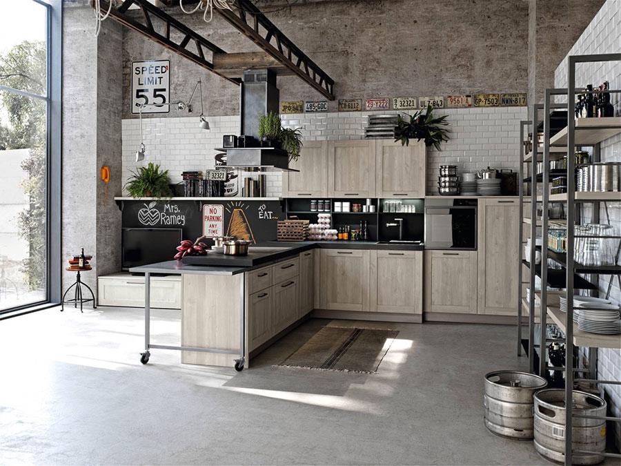 Modello di cucina dal design industriale n.24