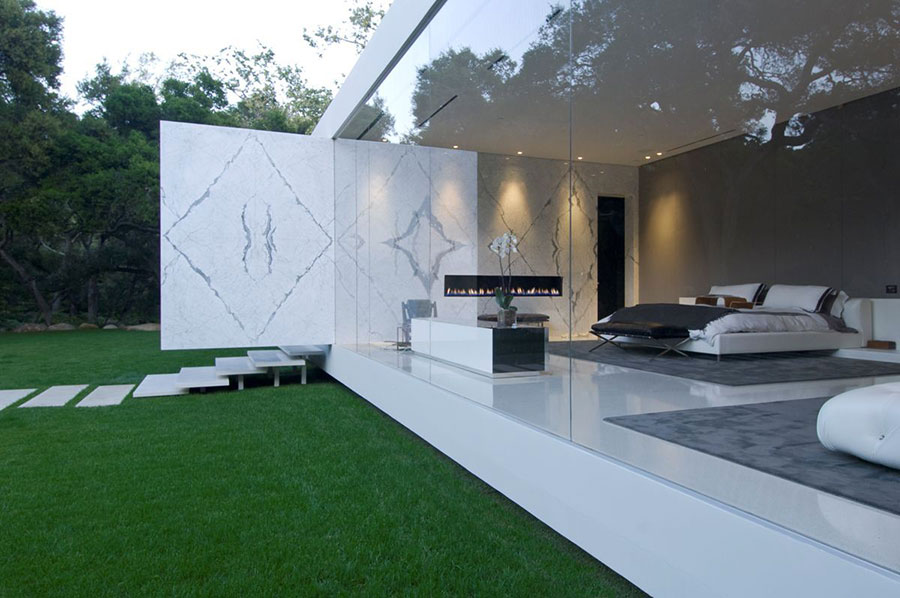 Glass pavilion la casa da sogno con pareti di vetro di for Piani di casa da sogno