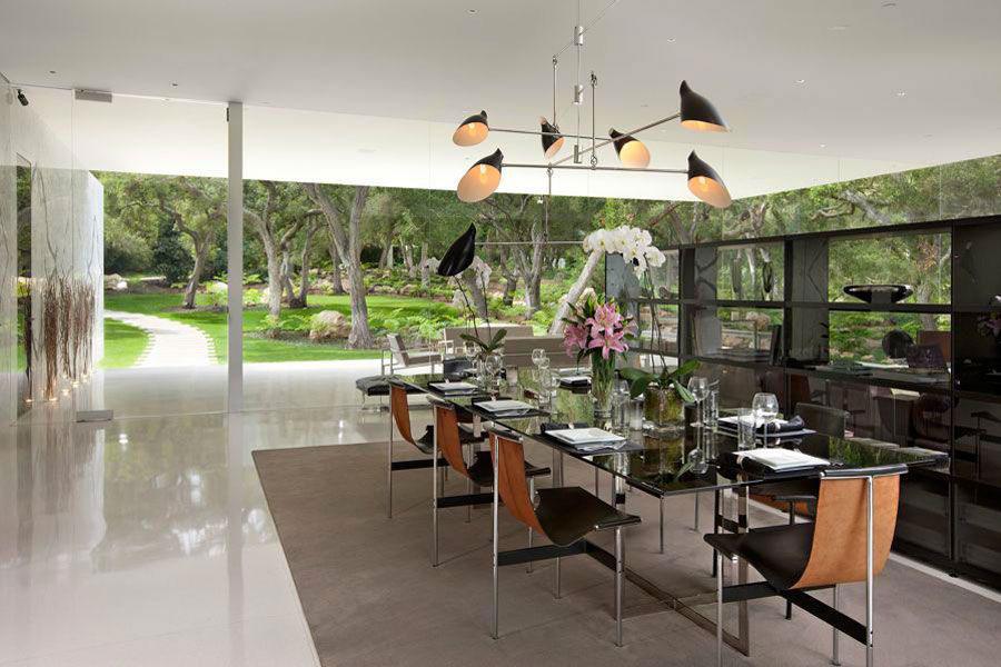 Glass pavilion la casa da sogno con pareti di vetro di for Piani di casa ranch d epoca