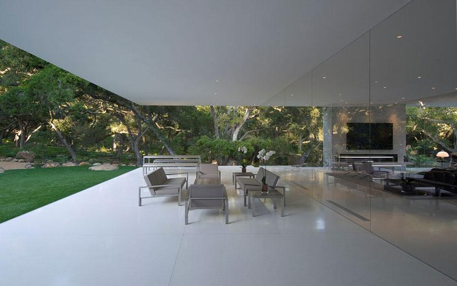 Glass pavilion la casa da sogno con pareti di vetro di for Piani di casa di roccia del fiume