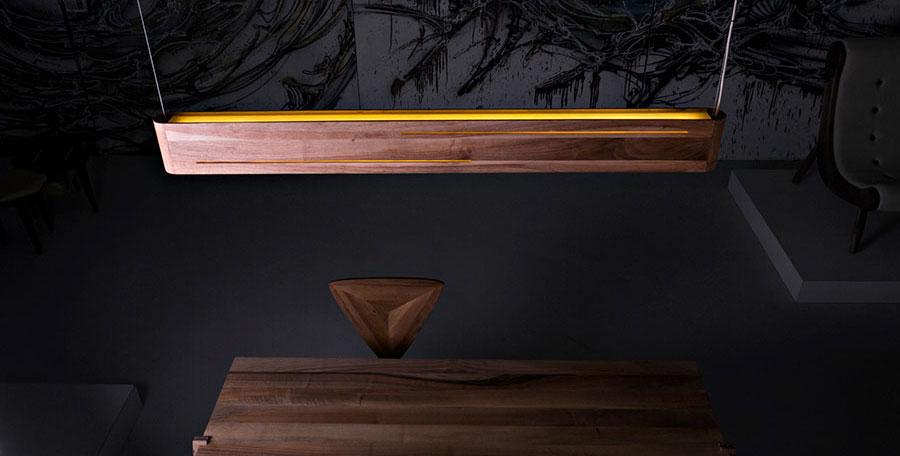 Lampadari in legno