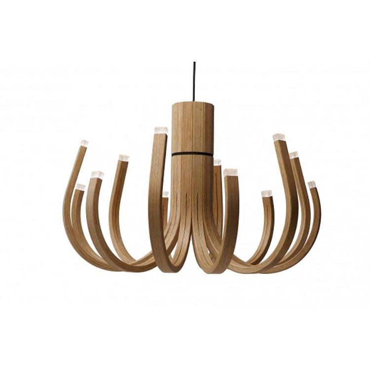 Modello di lampadario in legno moderno dal design contemporaneo n.03