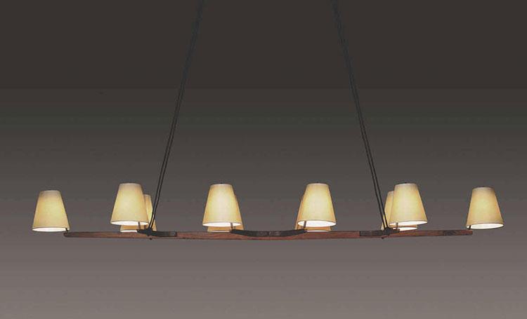 Modello di lampadario in legno moderno dal design contemporaneo n.11