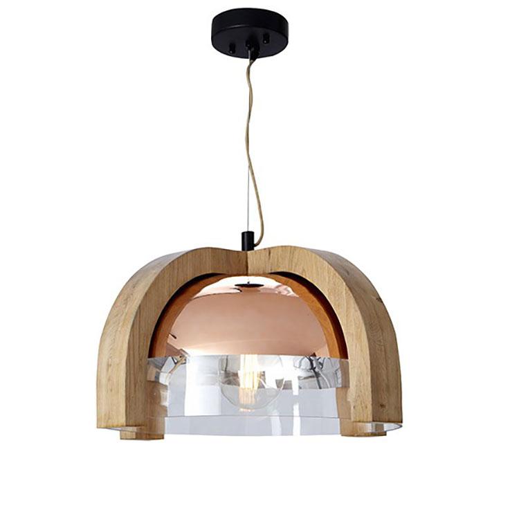 Modello di lampadario in legno moderno dal design contemporaneo n.14