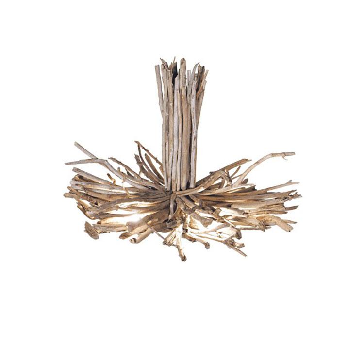 Modello di lampadario in legno moderno dal design contemporaneo n.15