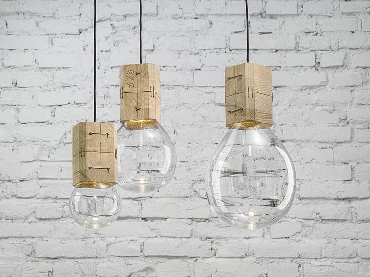 Modello di lampadario in legno moderno dal design contemporaneo n.17