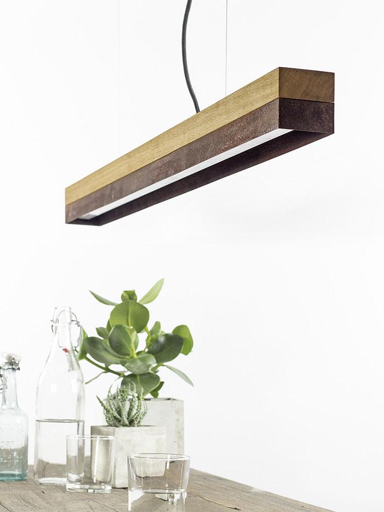 Modello di lampadario in legno moderno dal design contemporaneo n.19