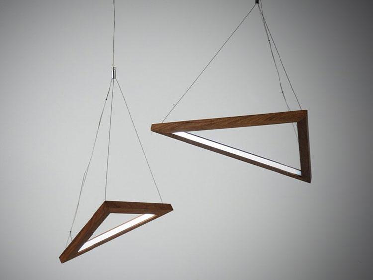 Modello di lampadario in legno moderno dal design contemporaneo n.21