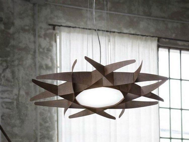 Modello di lampadario in legno moderno dal design contemporaneo n.22