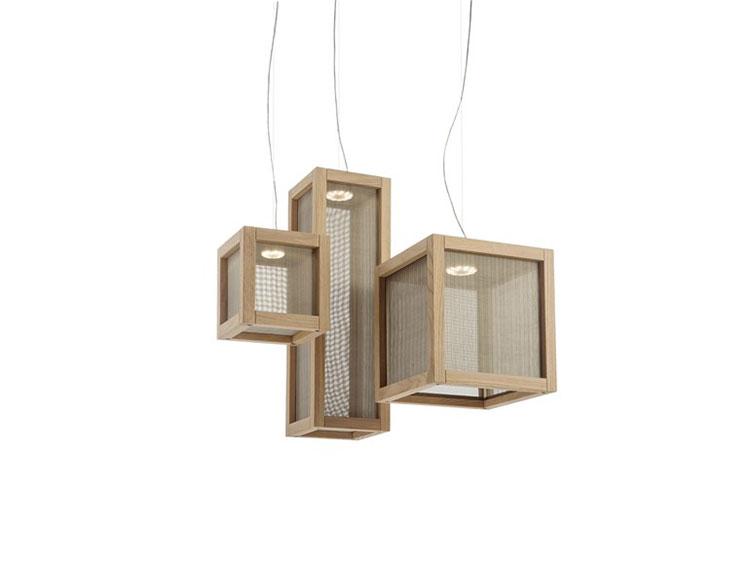 Modello di lampadario in legno moderno dal design contemporaneo n.23