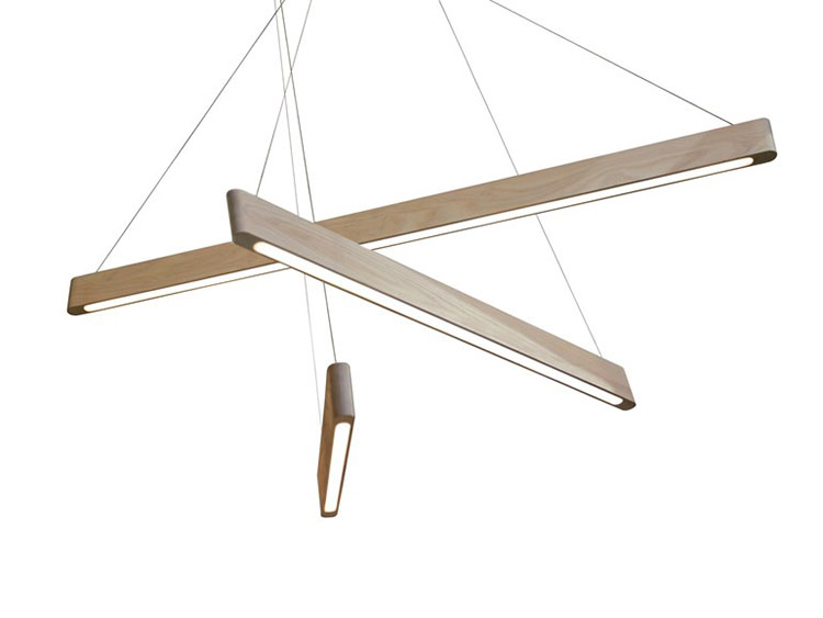 Modello di lampadario in legno moderno dal design contemporaneo n.25
