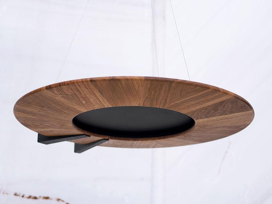 Modello di lampadario in legno moderno dal design contemporaneo n.26