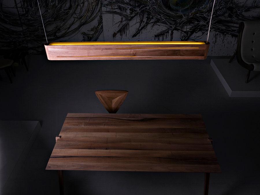 Modello di lampadario in legno moderno dal design contemporaneo n.28