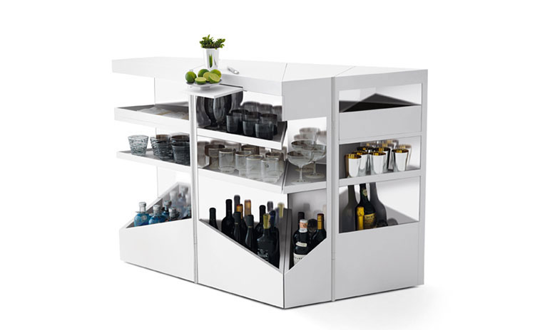 Mobile bar dal design moderno per casa n.01