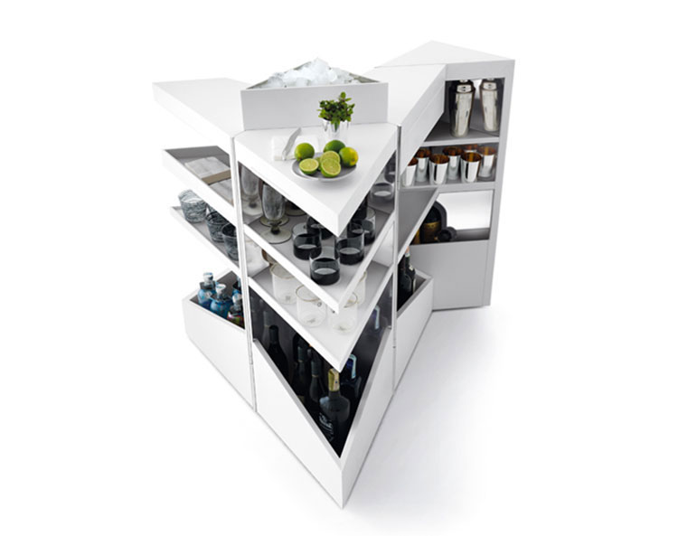Mobile bar dal design moderno per casa n.03