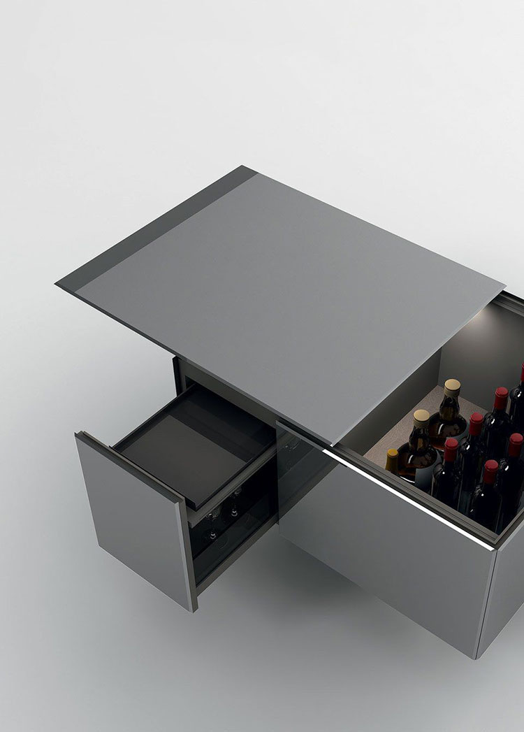 Mobile bar dal design moderno per casa n.06