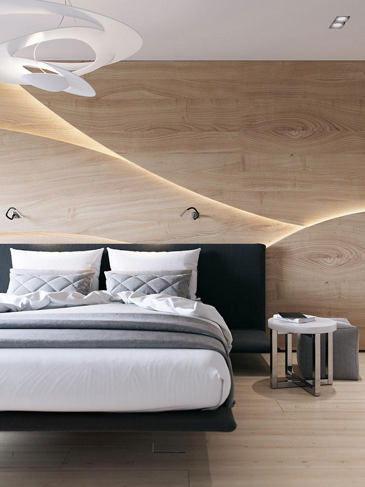 Pareti in legno per la camera da letto 30 idee dal design for Idee per pareti camera da letto