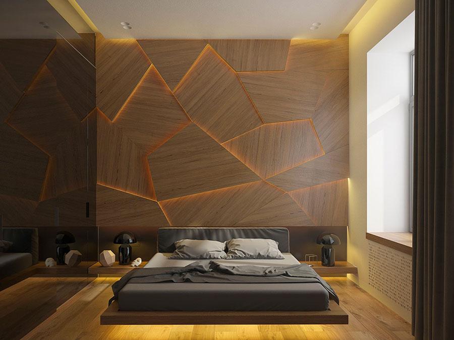 Rivestimento in legno per pareti della camera da letto n.03