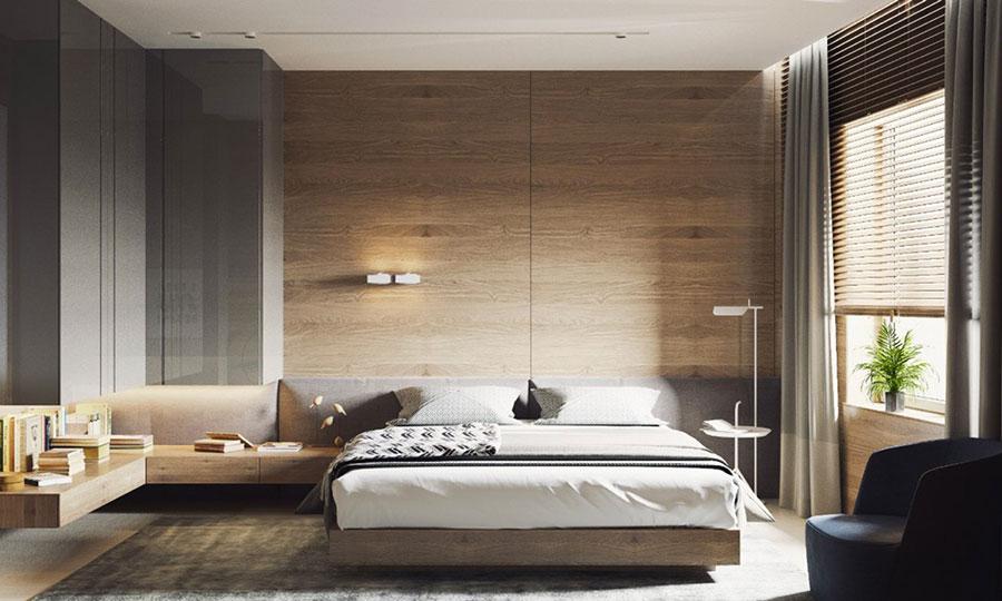 Rivestimento in legno per pareti della camera da letto n.15