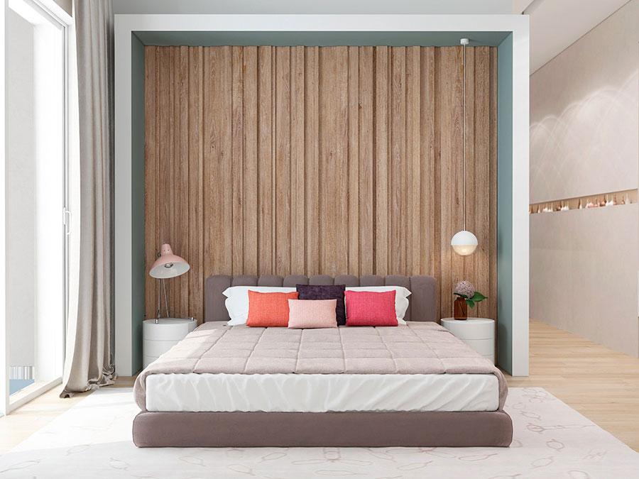 Rivestimento in legno per pareti della camera da letto n.20