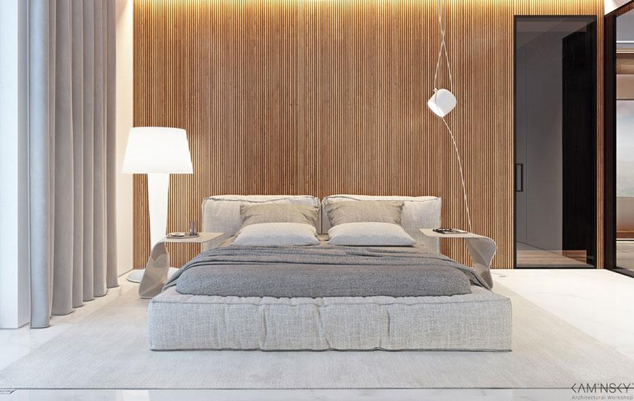 Rivestimento in legno per pareti della camera da letto n.22