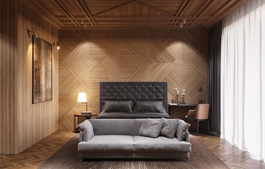 Rivestimento in legno per pareti della camera da letto n.23