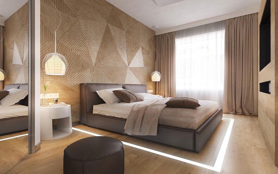 Rivestimento in legno per pareti della camera da letto n.24