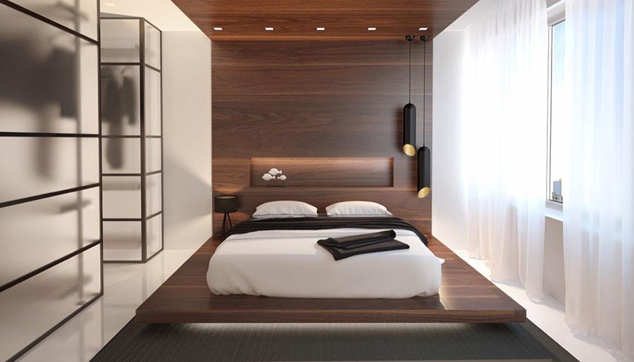 Pareti in legno per la camera da letto 30 idee dal design unico for Wooden bed designs pictures interior design