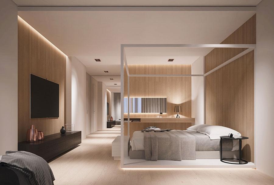 Rivestimento in legno per pareti della camera da letto n.26