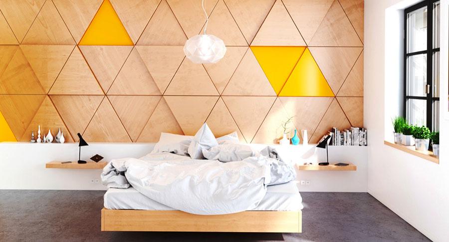 Rivestimento in legno per pareti della camera da letto n.28