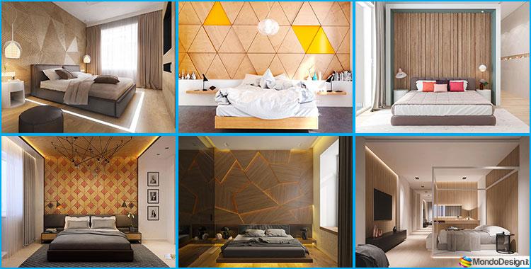 Pareti rivestite in pietra per camere da letto classiche o - Decorazioni per camera da letto ...