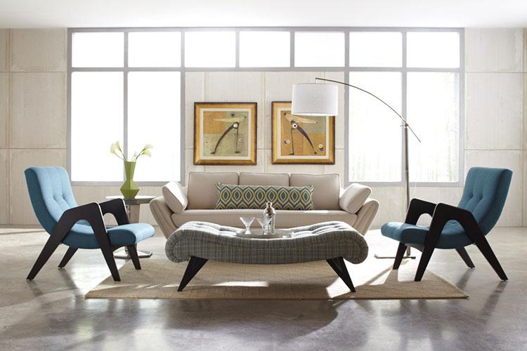Arredamento per salotto vintage in stile anni '50 n.01