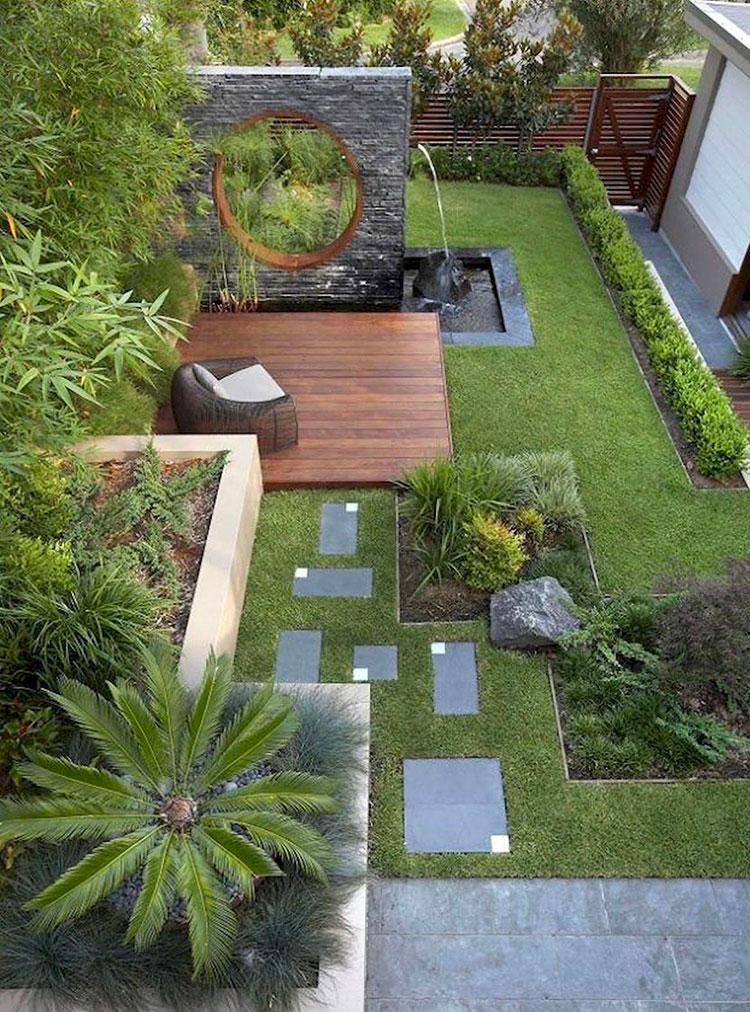 Idee per arredare un giardino pavimentato n.02