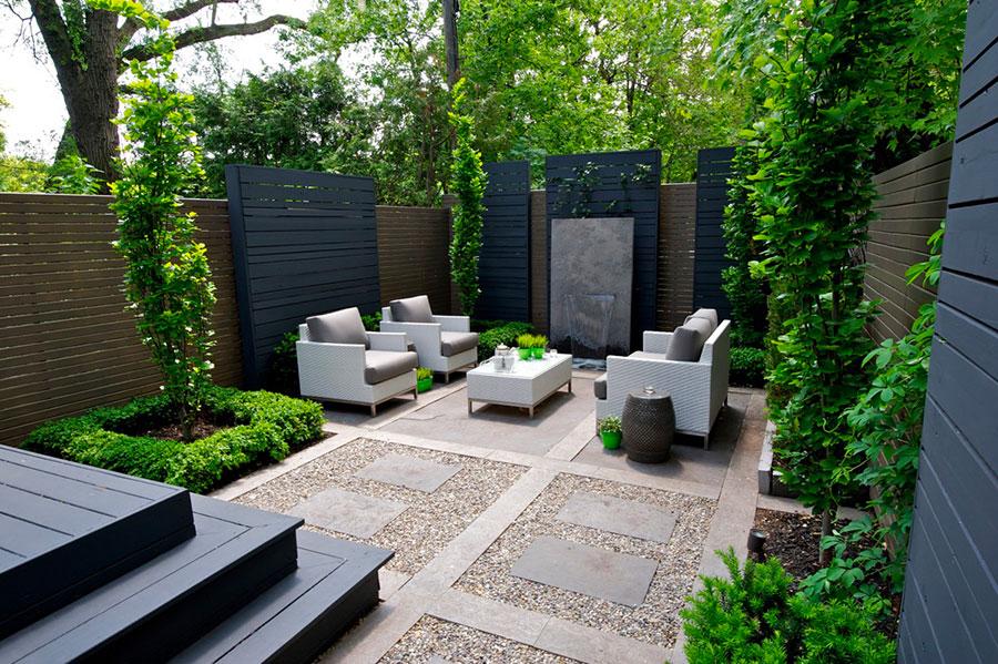 Idee per arredare un giardino pavimentato n.03