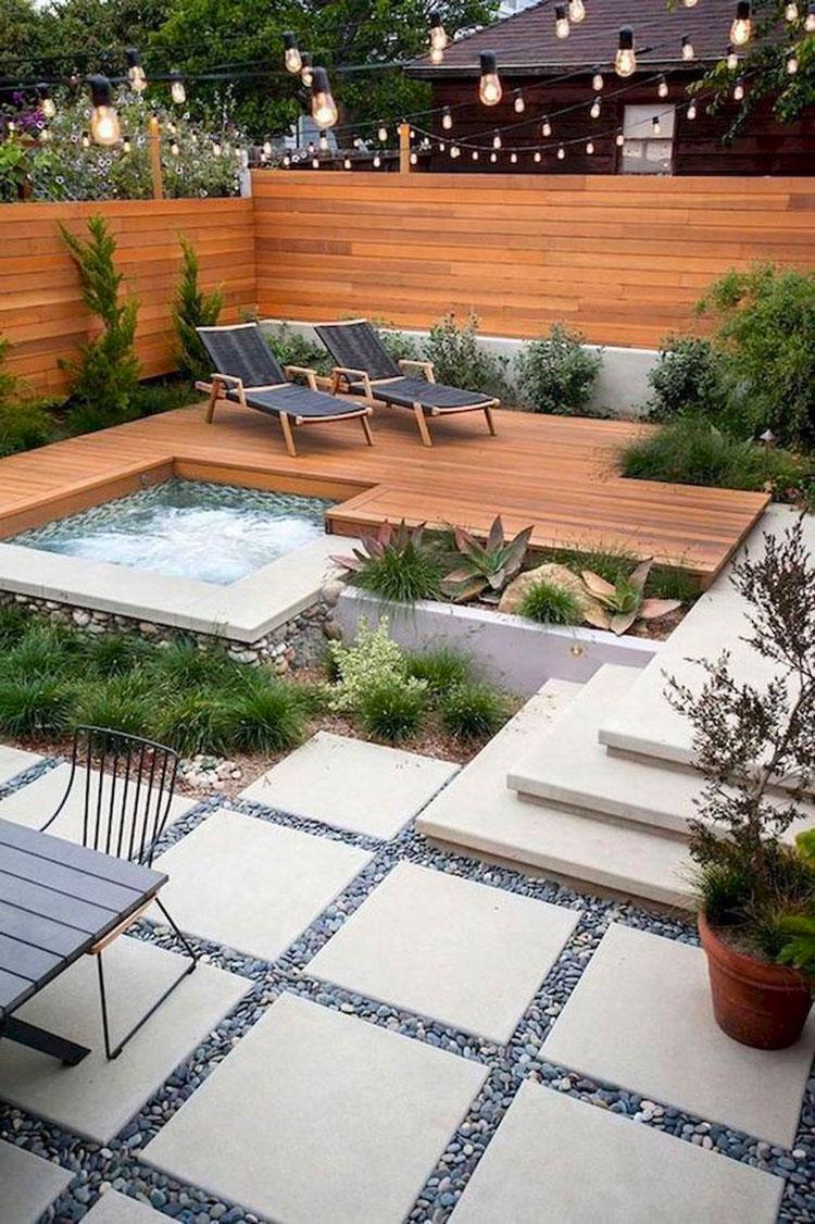 Idee per arredare un giardino pavimentato n.04