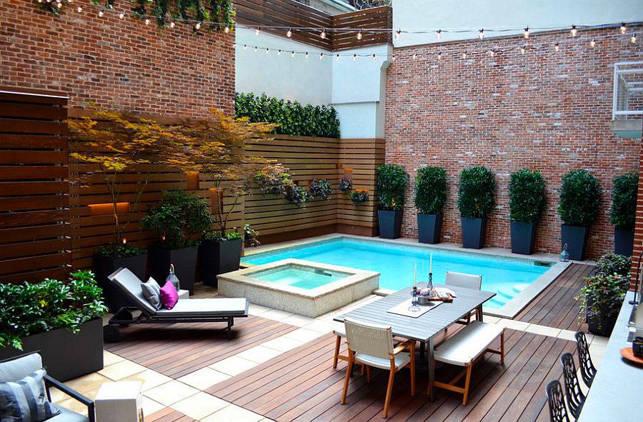 Idee per arredare un giardino con piscina n.01