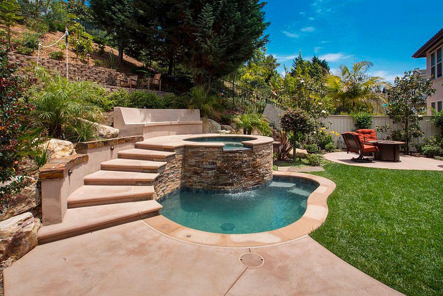 Idee per arredare un giardino con piscina n.05
