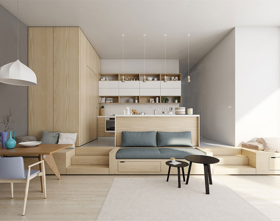 Come arredare un open space moderno ecco 25 idee di for Idee interior design