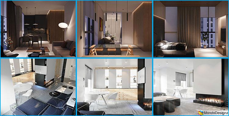 Piccoli appartamenti di lusso idee per arredare con classe 40 mq for Arredare casa di 40 mq