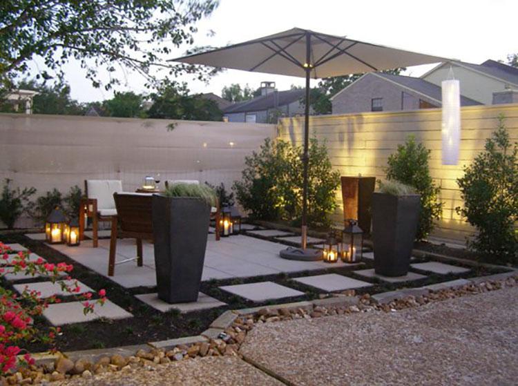 Idea per arredare un piccolo giardino con elementi di design n.04
