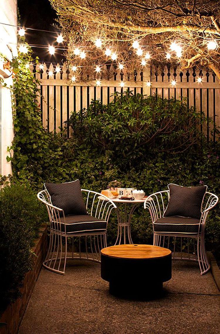 Idea per arredare un piccolo giardino con elementi di design n.05
