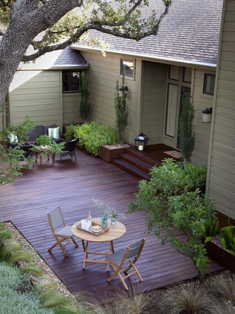 Idea per arredare un piccolo giardino con elementi di design n.07