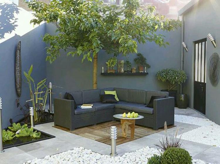 Idea per arredare un piccolo giardino con elementi di design n.08
