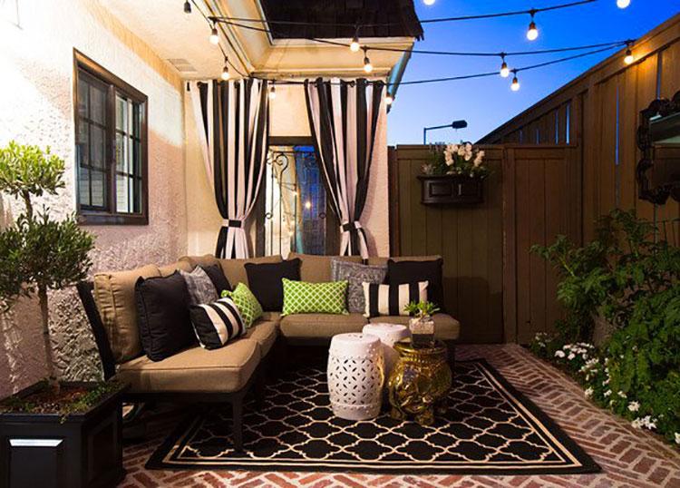Idea per arredare un piccolo giardino con elementi di design n.09