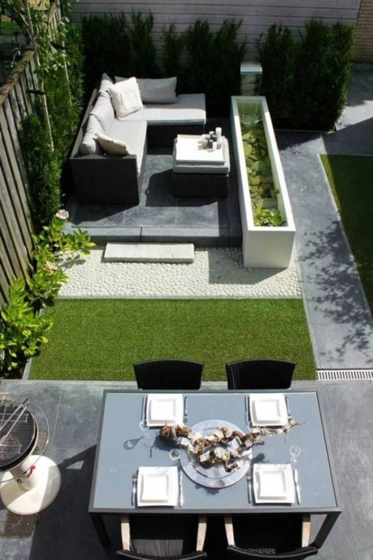 Idea per arredare un piccolo giardino con elementi di design n.15