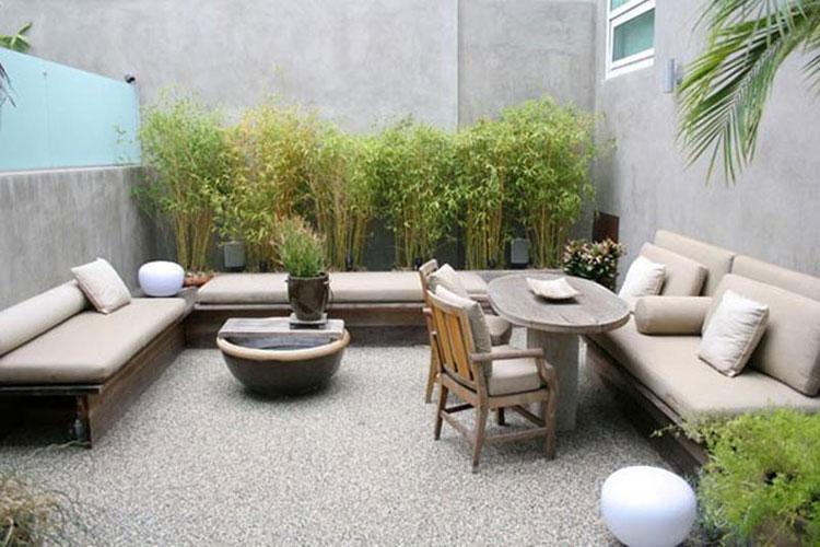 Idea per arredare un piccolo giardino con elementi di design n.19