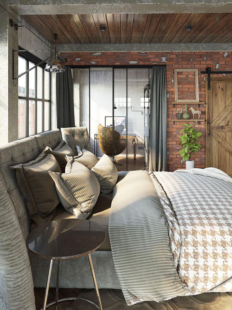 Arredamento stile industriale per loft dal design unico n.04