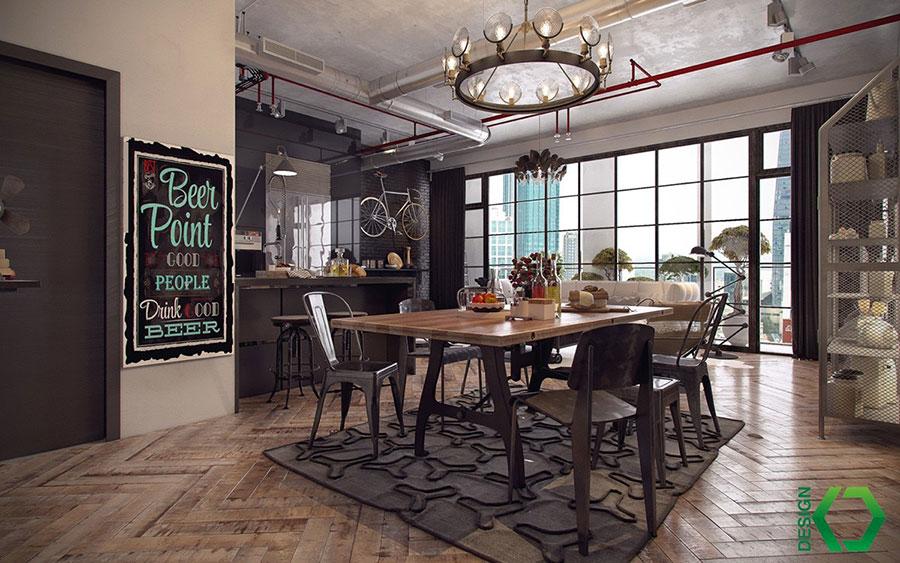 Come arredare una sala da pranzo in stile industriale - Arredamento sala ...