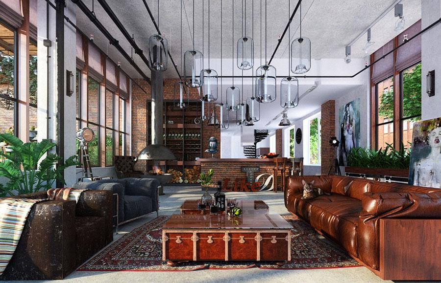 Idee per arredare il soggiorno in stile industriale n.19