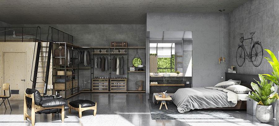 Arredamento stile industriale per loft dal design unico n.18